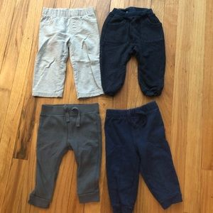 Lot of 4 pairs of pants Sz 12-18 months